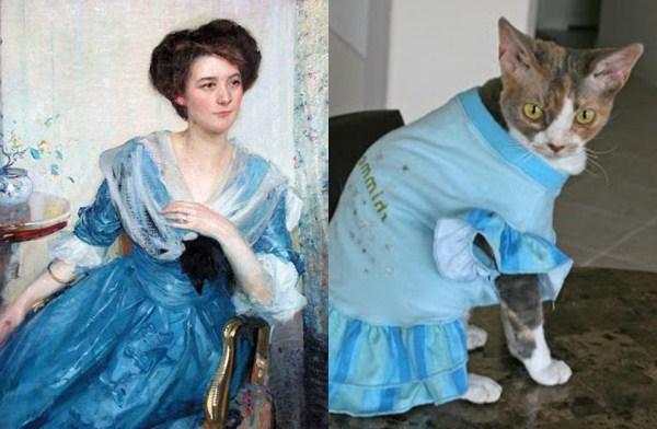 106 Cats Imitating Art (21 photos)