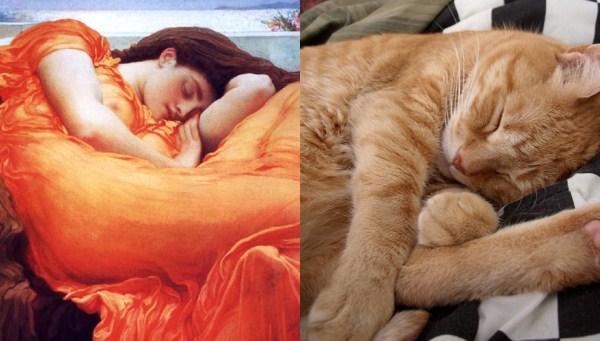 126 Cats Imitating Art (21 photos)