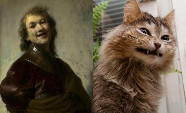 134 Cats Imitating Art (21 photos)