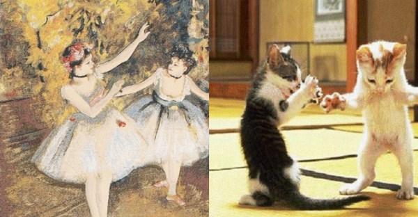 152 Cats Imitating Art (21 photos)