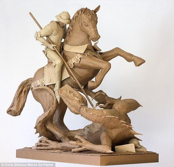 454 Sculptures Made Of Cardboard (15 photos)
