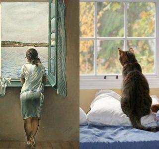 Cats Imitating Art (21 photos)