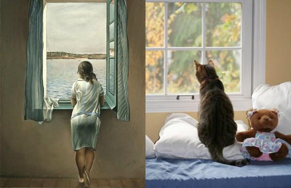 48 Cats Imitating Art (21 photos)