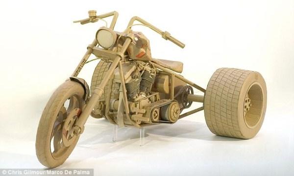 Sculptures Made Of Cardboard (15 photos) 8
