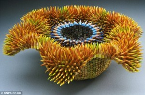 Amazing Sculptures Made Out Of Pencils (10 photos) 9