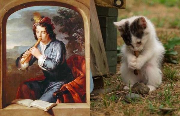 96 Cats Imitating Art (21 photos)