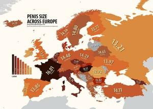 European Map Of Penis Size (1 photo)