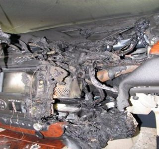 GPS Battery Explosion (5 photos)