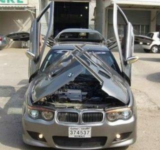 BMW with Crazy Doors (9 photos)