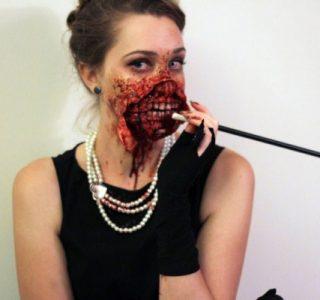 Zombie Audrey Hepburn Costume (7 photos)