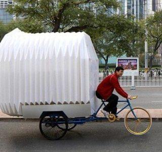 Tiny Bicycle House (9 photos)