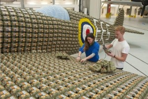 Spitfire Built From 6500 Egg Boxes (10 photos) 10