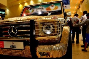 Mercedes Covered with Coins (14 photos) 1