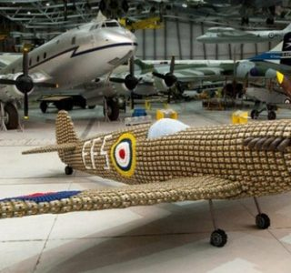 Spitfire Built From 6500 Egg Boxes (10 photos)