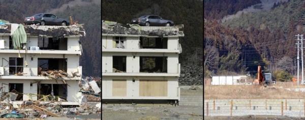 130 Ιαπωνία τσουνάμι Δύο χρόνια πριν και μετά από τις εικόνες (38 φωτογραφίες)