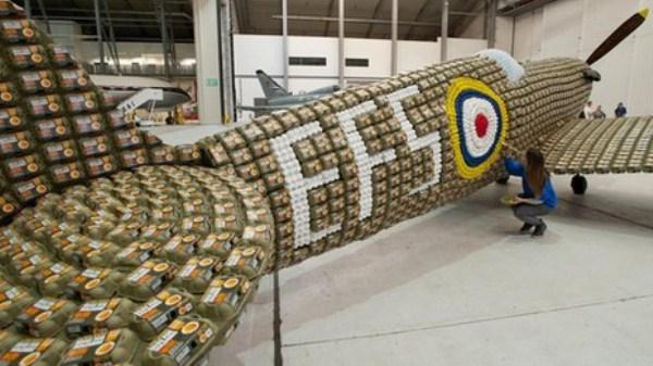 Χτισμένο Spitfire 217 από 6500 Αυγό Κουτιά (10 φωτογραφίες)