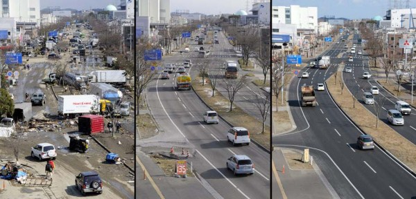 Japan Tsunami Two Years On - Before and After Pictures (38 photos) 2