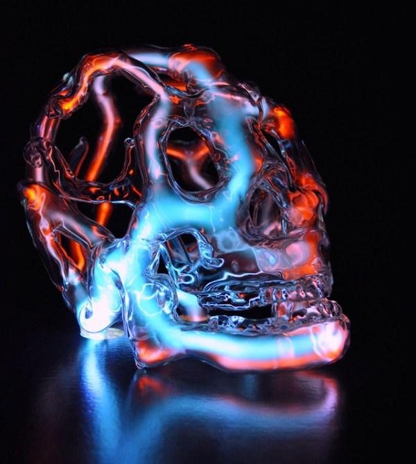 226 Φωτεινές κρανία Glass (9 φωτογραφίες)