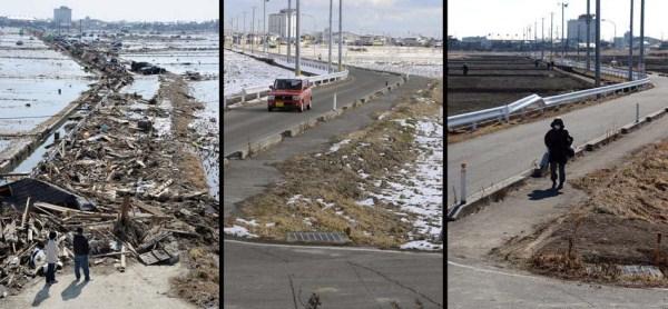 510 Ιαπωνία τσουνάμι Δύο χρόνια πριν και μετά από τις εικόνες (38 φωτογραφίες)