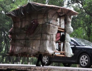A Chinese Man Who Carries His House On His Back (12 photos) 5