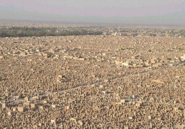ρέμα alsalaam είναι το μεγαλύτερο νεκροταφείο του κόσμου 9 Worlds μεγαλύτερο νεκροταφείο (12 φωτογραφίες)