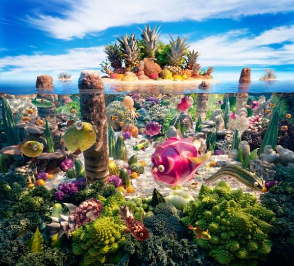 1 Ένας κόσμος φτιαγμένος από Τροφίμων (24 φωτογραφίες)