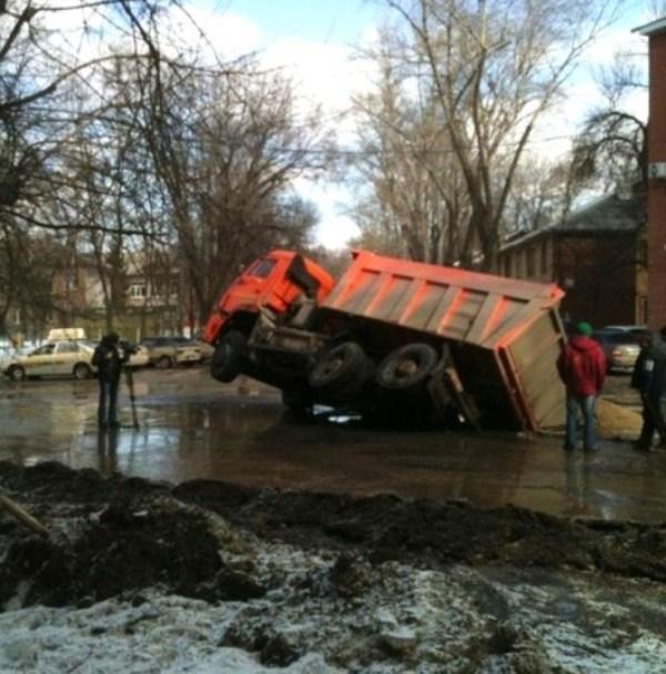 101 Μια ρωσική πόλη είναι να καταπιεί Giant Καταβόθρες (15 φωτογραφίες)