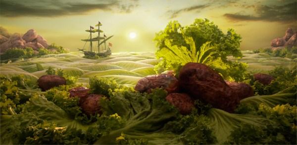 2 Ένας κόσμος φτιαγμένος από Τροφίμων (24 φωτογραφίες)