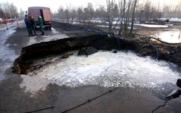 31 Μια ρωσική πόλη είναι να καταπιεί Giant Καταβόθρες (15 φωτογραφίες)