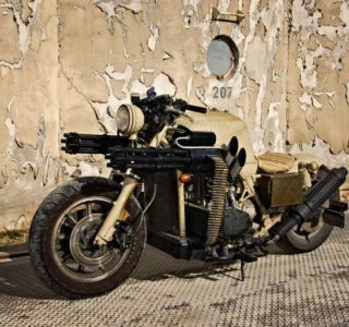 Motorcycle with Two Guns (12 photos)