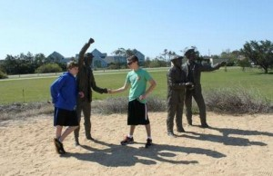 Having Fun With the Bronze Statues (20 photos) 20