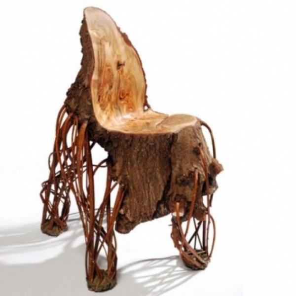 1027 καρέκλες από Weird Υλικά (41 φωτογραφίες)