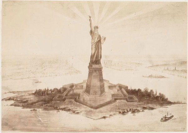 Building The Statue Of Liberty (11 photos) 11