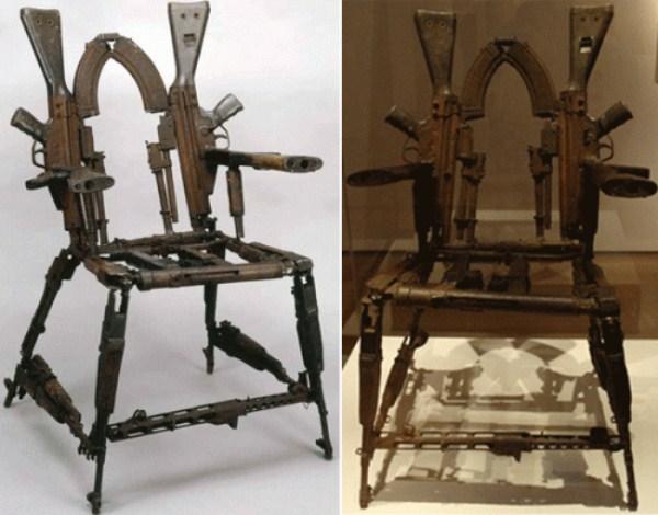 1134 καρέκλες από Weird Υλικά (41 φωτογραφίες)