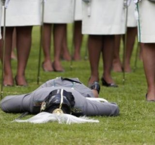 When Soldiers at Attention Pass Out (21 photos)