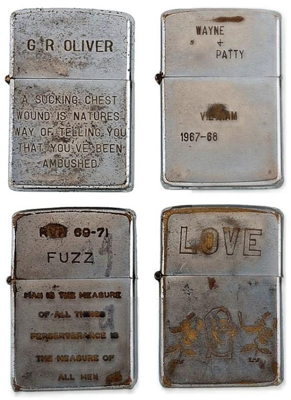 59 Χαραγμένο αναπτήρες από τον πόλεμο του Βιετνάμ (21 φωτογραφίες)