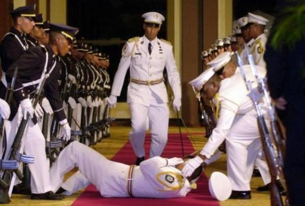 87, όταν οι στρατιώτες στην προσοχή λιποθυμήσετε (21 φωτογραφίες)