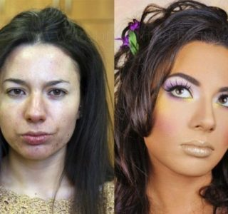 Girls With and Without Makeup (64 photos)