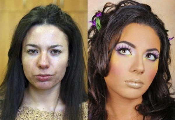 Girls With and Without Makeup (64 photos) 44