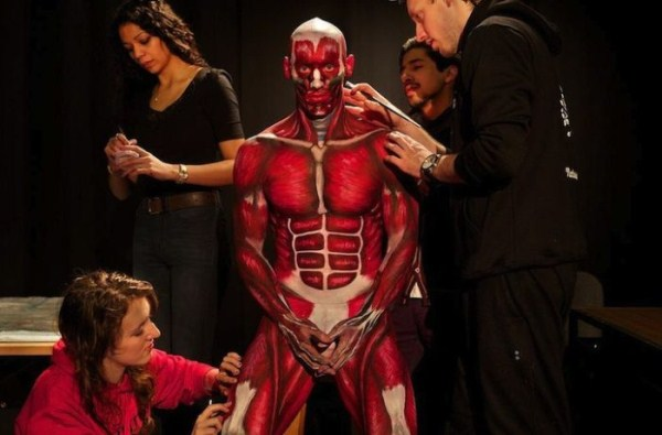 Students Learn Anatomy By Painting a Live Body (11 photos) 10