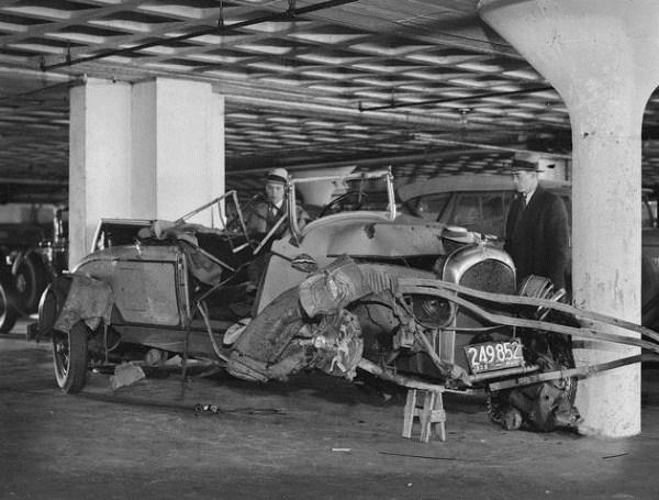 vintage car accidents 81