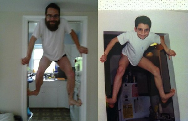 Recreating Childhood Photos (21)