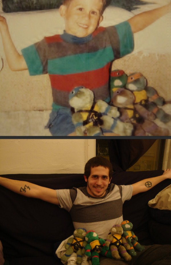 Recreating Childhood Photos (24)
