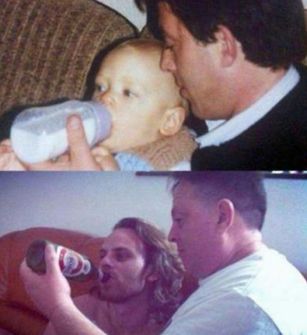 Recreating Childhood Photos (26)