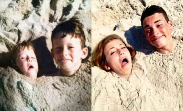 Recreating Childhood Photos (28)