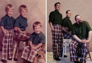 33 Childhood Photos Recreated Years Later (33 photos) 16