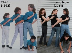 33 Childhood Photos Recreated Years Later (33 photos) 18