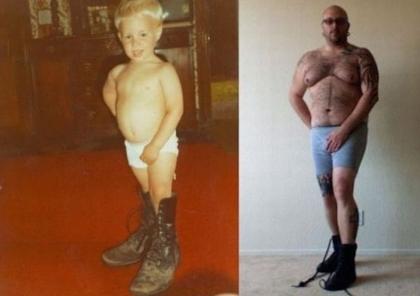 Recreating Childhood Photos (36)