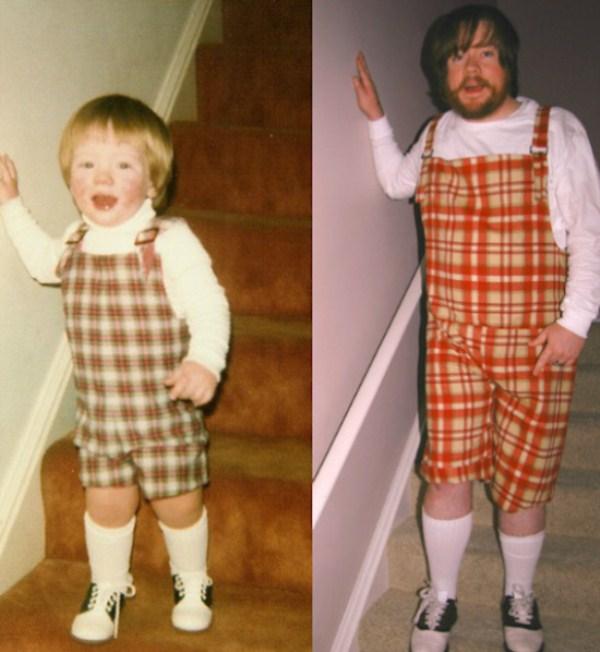 Recreating Childhood Photos (46)