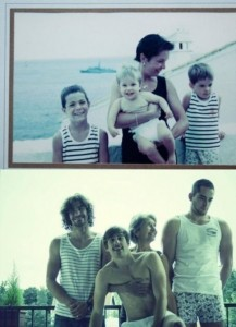33 Childhood Photos Recreated Years Later (33 photos) 33